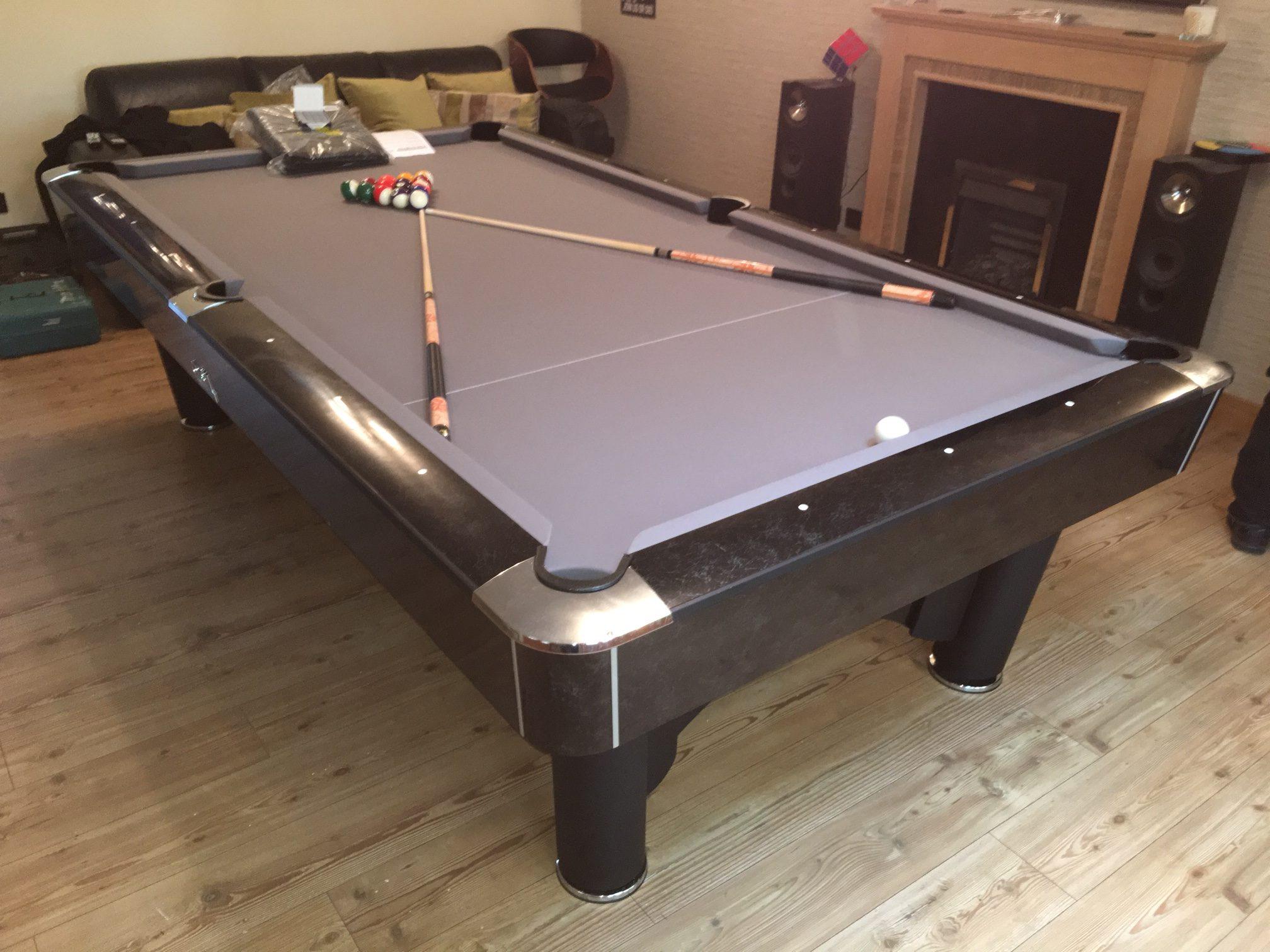 K Steel 9ft Pool Table SAM Leisure