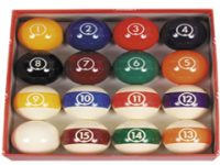 ARAMITH POOL BALL SET SPOTS AND STRIPES CONTINENTAL 35MM(1-3/8″)