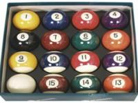 ARAMITH PREMIER SPOTS AND STRIPES POOL BALL SET 2″ (UK PUB TABLE SIZE)