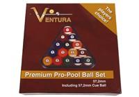 VENTURA PREMIUM AMERICAN POOL BALL SET 57.2MM