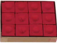 POOL CHALK MASTER RED BOX OF 12