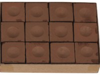 MASTER POOL / SNOOKER CHALK BROWN BOX OF 12