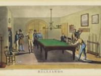 POSTER SALLE DE BILLARD 61X40C