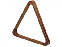 Dark Wood Triangle w/Brass Lining for 2 1/16″ balls