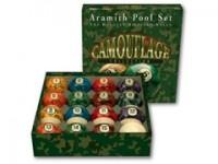 ARAMITH CAMOUFLAGE POOL BALL SET 57MM