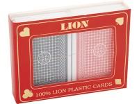Lion poker cards 100% plastic double