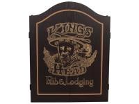 KINGS HEAD BLACK GOLD DARTBOARD CABINET