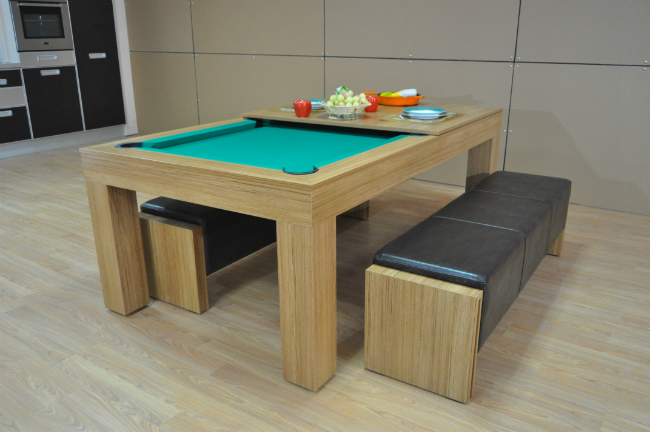 Pool Dining Table Conversion