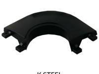 SAM K STEEL CORNER PLATE IN BLACK
