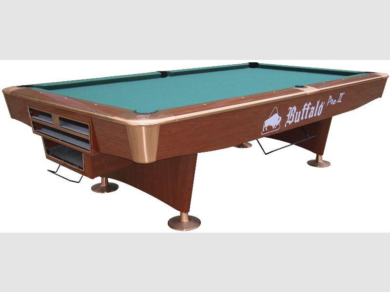 9ft Buffalo U0027Pro IIu0027 Pool Table In Walnut With Drop Pockets