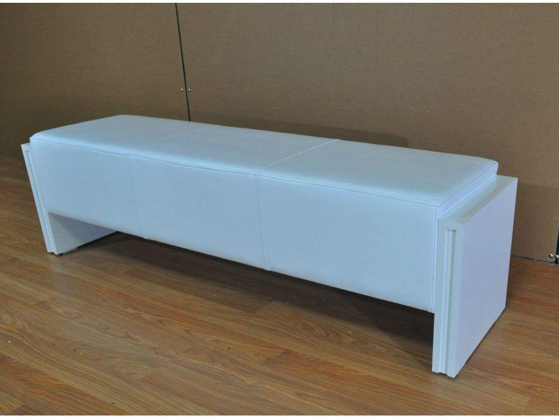 Bench Seat High Gloss White 140cm Sam Leisure