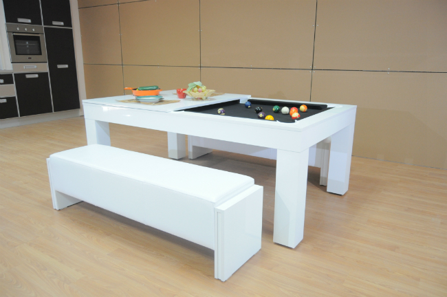 Milano Pool Dining Table High Gloss Six To Eight Seater SAM Leisure - How high is a pool table