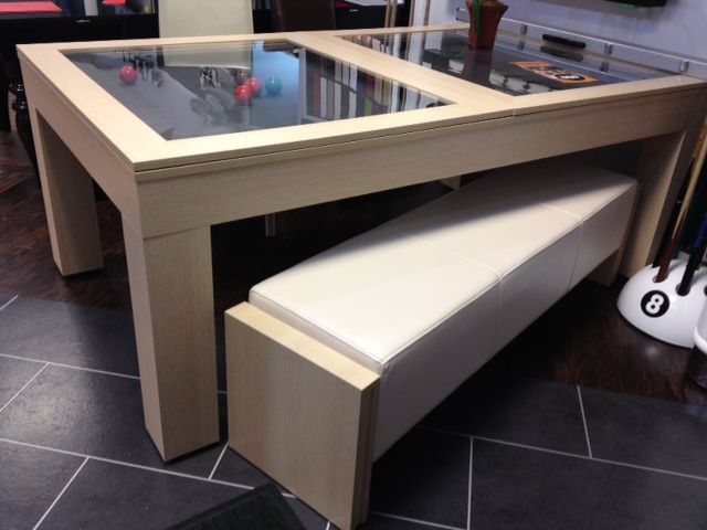 Milano Pool Dining Table Ten Seater Pool Table Conversion SAM Leisure - Milano pool table